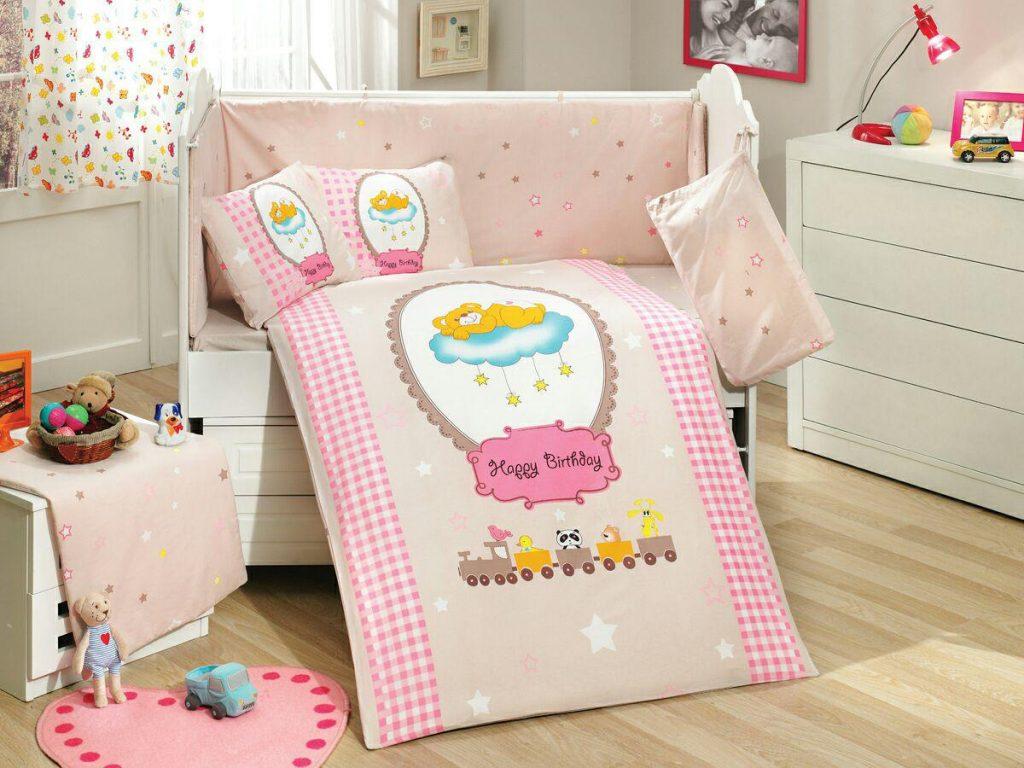 ست لحاف نوزادی bam bam pink