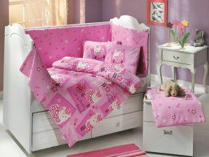 ست لحاف نوزادی little sheep pink