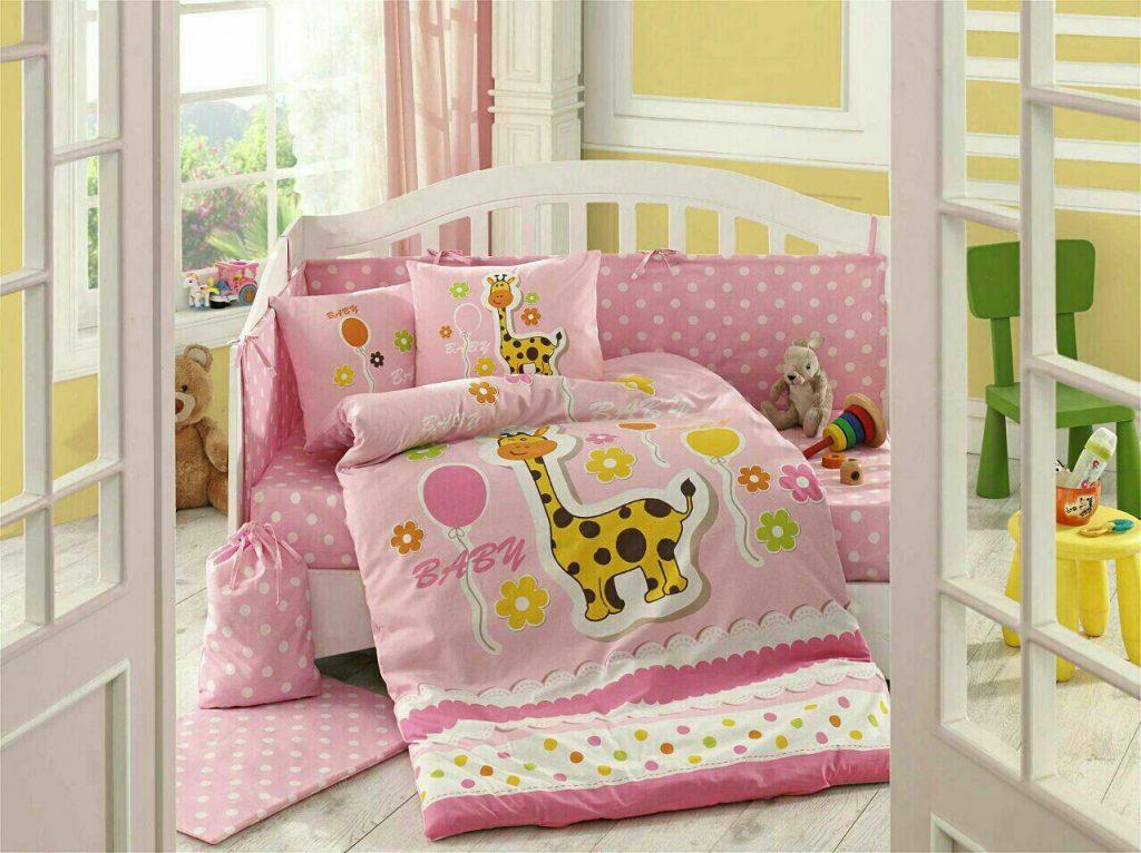 ست لحاف نوزادی puffy pink