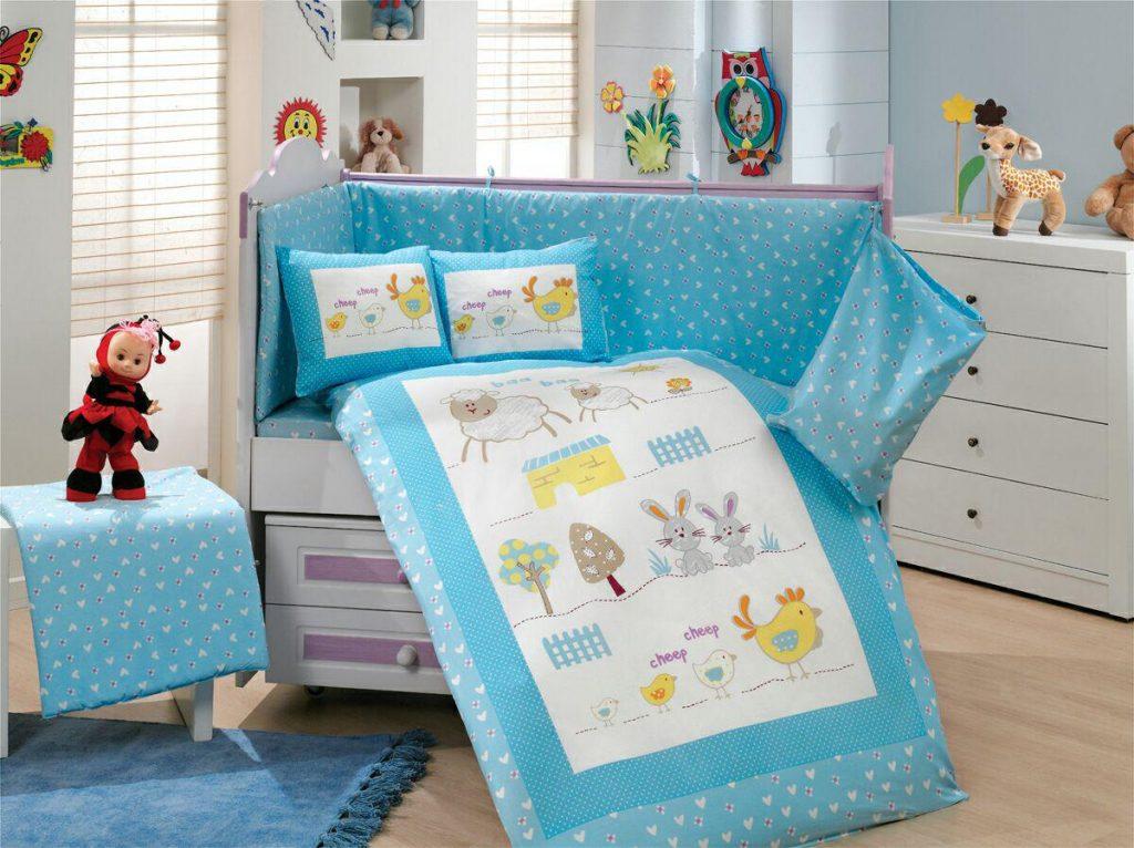 ست لحاف نوزادی zoo blue