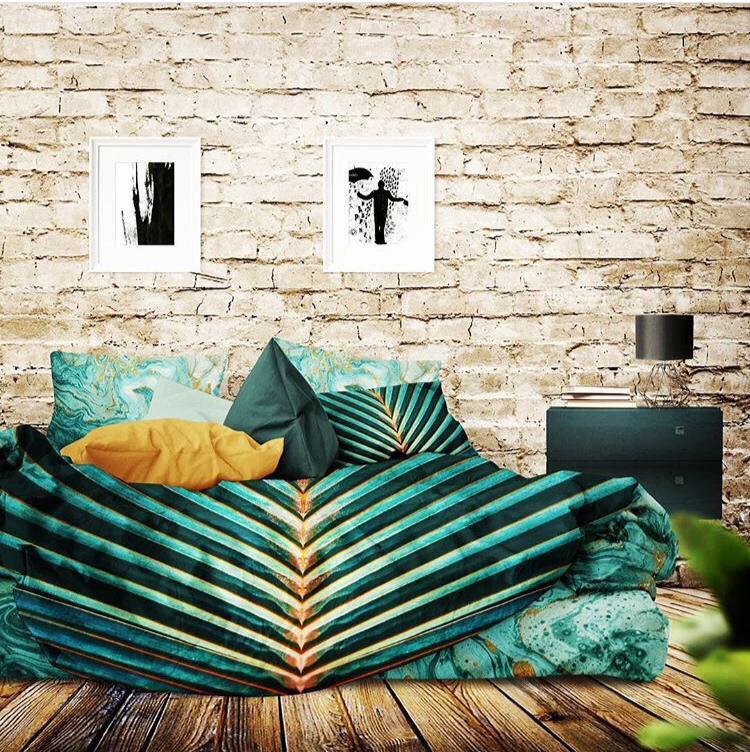 روتختی سبزابی اتاق خواب سبز
