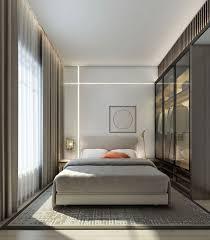 دکوراسیون اتاق خواب خاکستری کوچک