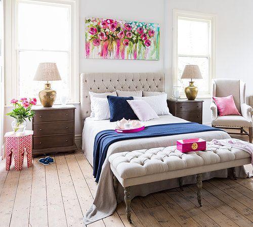 دیزاین رنگی اتاق خواب دونفره
