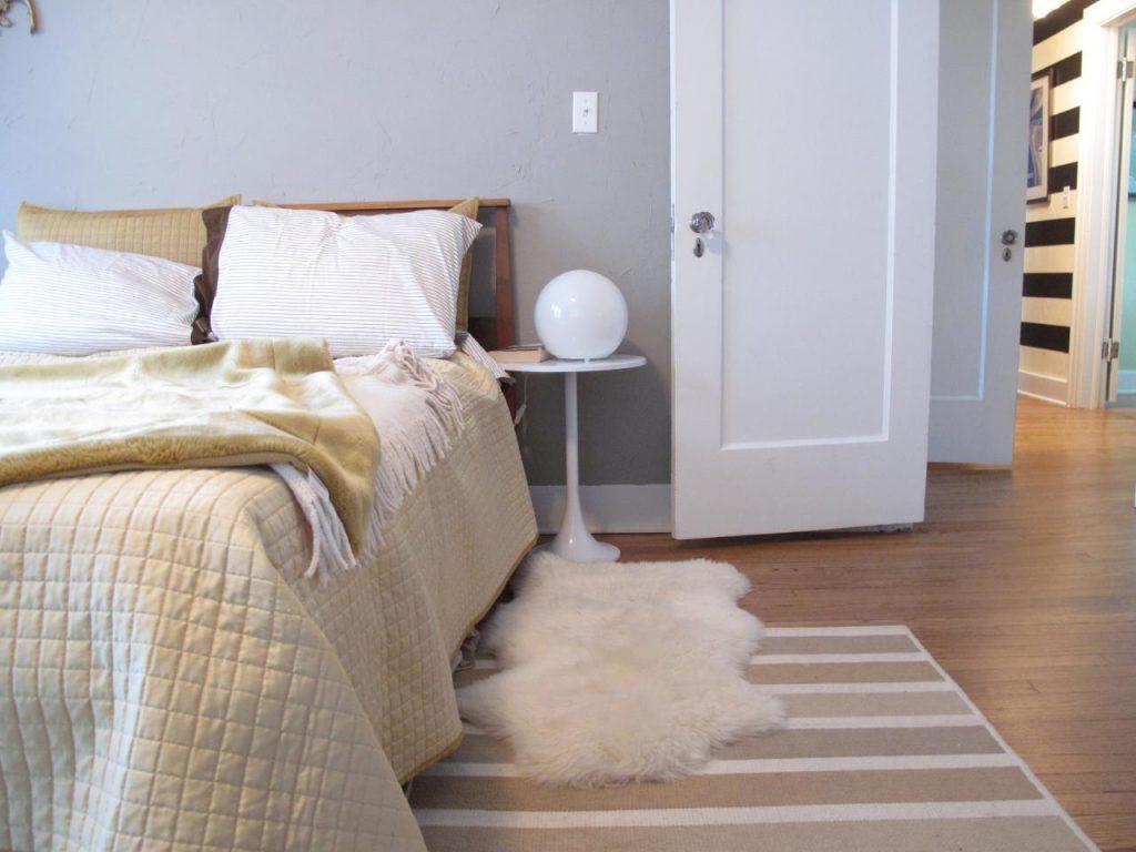 دکوراسیون اتاق خواب با فرش خز