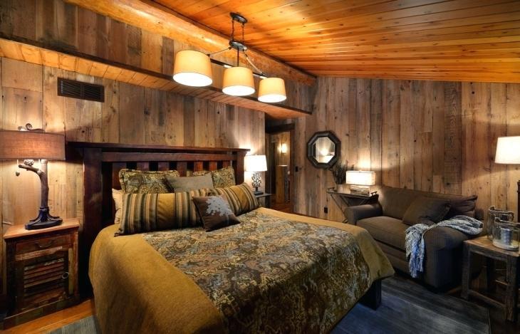 دکوراسیون اتاق خواب دونفر چوبی