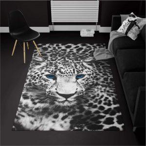 خرید قالیچه ترک سفیدمشکی