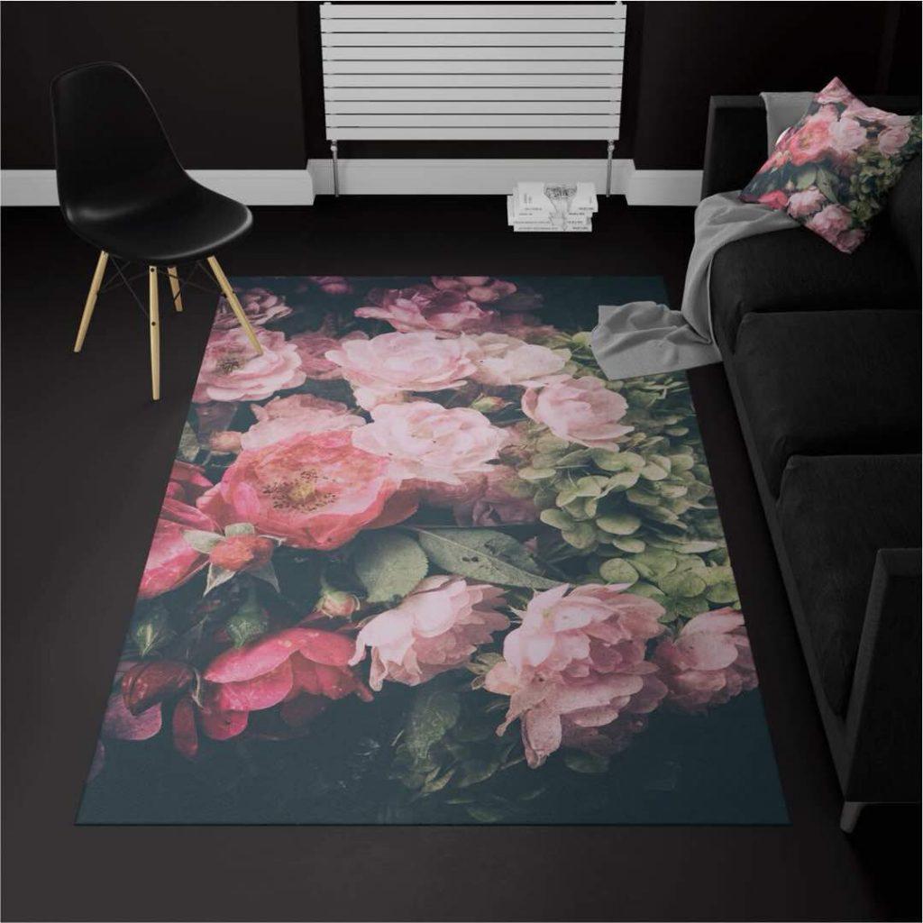 قالیچه ترک گل رز