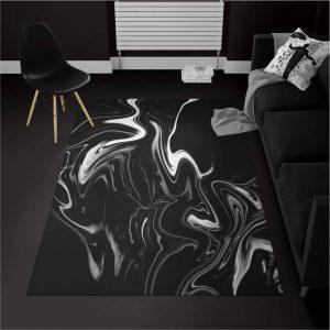خرید قالیچه ترک سیاه و سفید