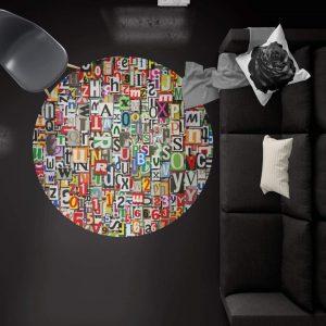 خرید قالیچه گرد هنری