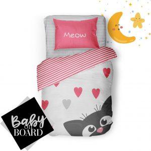 روتختی نوزادی meow/pink